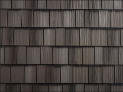 sample image of Shake-look Metal Roof: Arrowline Shake in Charcoal-Gray-Blend-1 available from Metal Roof Outlet