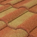 Barrel Vault Stone Coated Metal Tile Roof - Sunset Gold